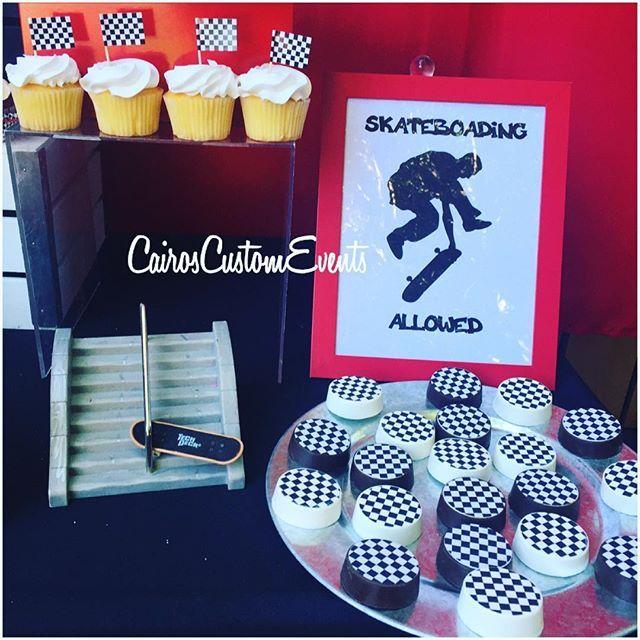 #kingstonskatedto2 #skateboardparty for @kingparis3 #CairosCustomEvents treats by @sugarfairybakeshop