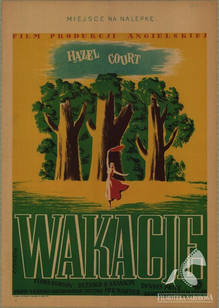 Polish posters: WAKACJE - Roman Szałas; HOLIDAY CAMP (1948) dir.  Ken Annakin
