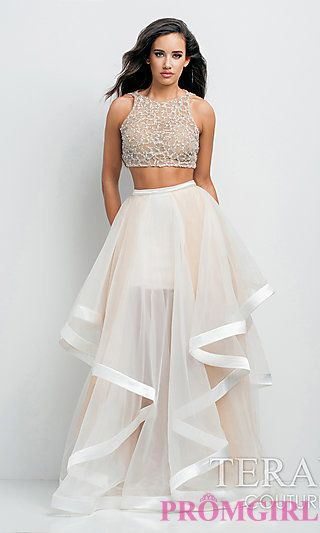 Long Two Piece Prom Dress by Terani P0102 at PromGirl.com