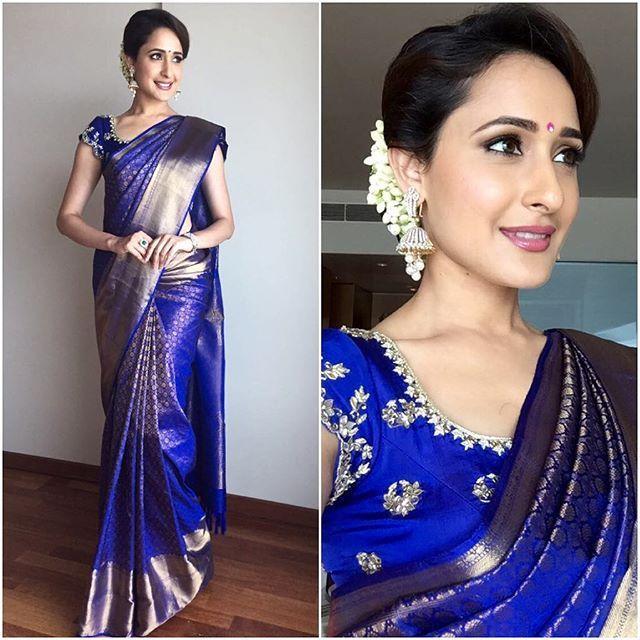 @jaiswalpragya  Sari - #Kalamandir  Blouse - #architanarayanam  Jewelry - @vaibhavjewellers  Styled by - @geetikachadhaofficial  #bollywood #style #fashion #beauty #bollywoodstyle #bollywoodfashion #indianfashion #celebstyle