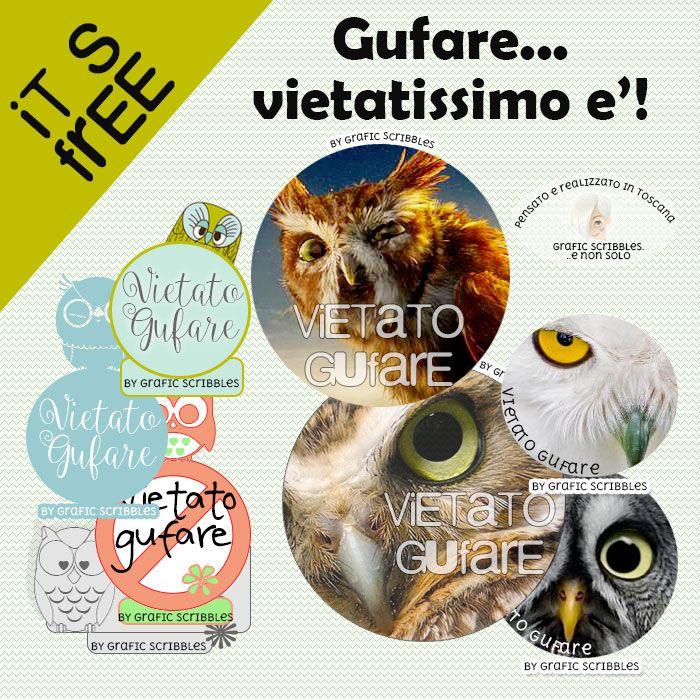 Vietato Gufare - Free Download ~ Grafic Scribbles