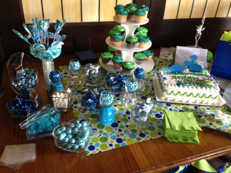 candy bar table for baby boy baby shower candy pinterest trees