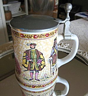 Vintage Porcelain German Beer Stein
