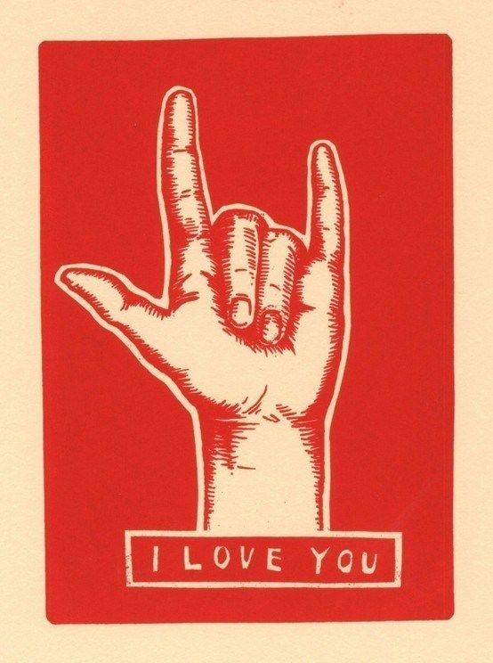 """""""I Love You"""" in sign language."""