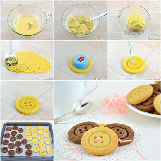 How to DIY Cute Button Shaped Shortbread | iCreativeIdeas.com Like Us on Facebook ==> https://www.facebook.com/icreativeideas