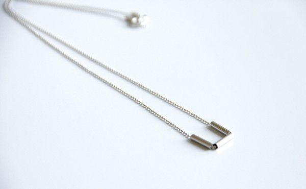 Sterling Silver Round Tube Necklace