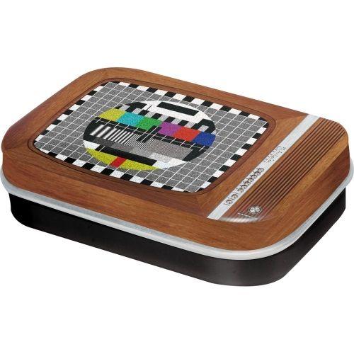 Nostalgic Μεταλλικό κουτάκι με μέντες 'Retro TV'