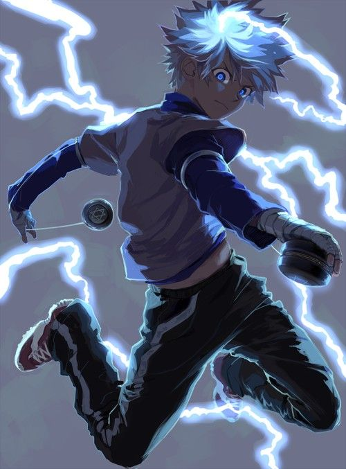 Killua Zoldyck, Hunter x Hunter (tight pic) - he and Gon are my favorite characters (they're equal) then Bisky is next.