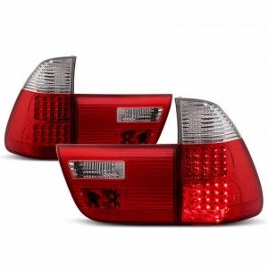 XTUNE 2000-2006 BMW E53 X5 LED Tail Lights - Red Clear | BMW | Tail Lights