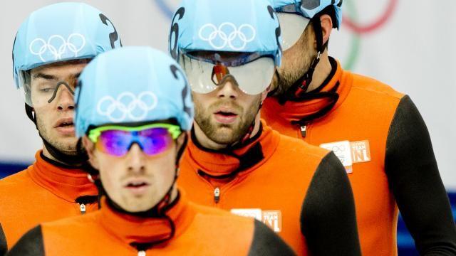 Niels Kerstholt, Daan Breeuwsma, Freek van der Wart en Sjinkie Knegt zijn wereldkampioen geworden op de 5000 meter relay shorttrack. (2014)