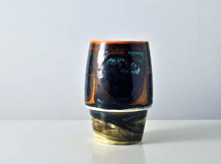 Poole Delphis vase. Signed. Vintage Mid Century vase. 1970s. Shape 83.
