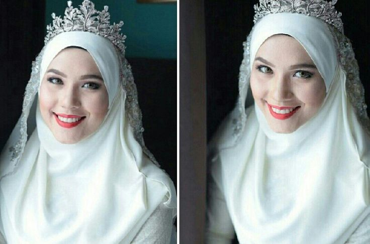 Pretty bride with hijab & tiara [asphere photography]