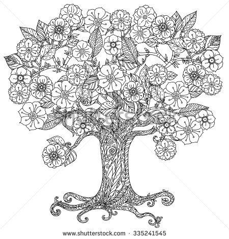 tree mandala coloring pages - photo#25