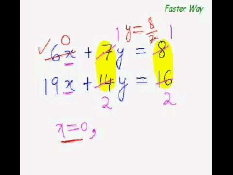 ... For Mentally Solving Simultaneous Equations (with Constant Ratios).wmv
