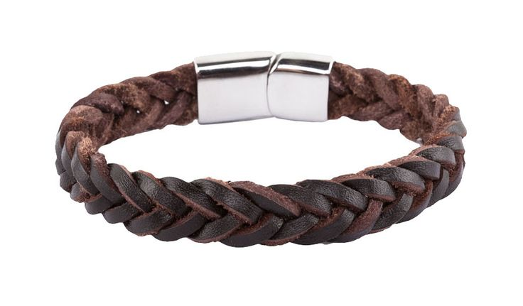 Men Stainless Steel Buckle Braided Leather Wristband by 24:01. Dark Brown wristband with braided style, madef rom leather, layer string strap, metal buckle fastening, a masculine wristband, with earthy tone color, perfect for everyday accessories. http://www.zocko.com/z/JJN7f