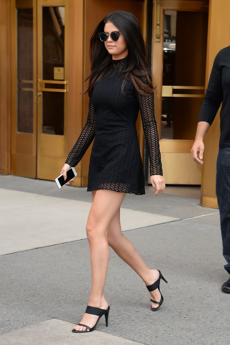 Selena Gomez's Five Latest Outfits Prove Black Is Anything But Boring   Teen Vogue