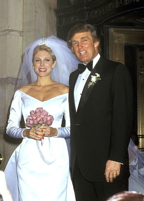 donald trump marla maples wedding photos