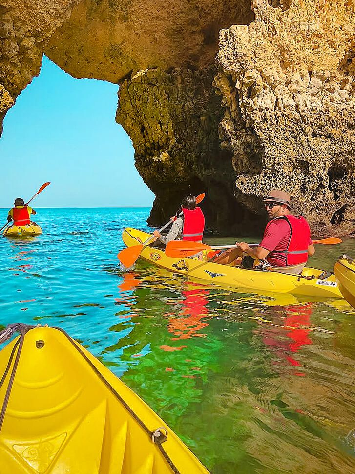 Kayaking In Algarve Portugal Halal Travel Guide In 2020 Best Beaches To Visit Most Beautiful Beaches Beaches In The World