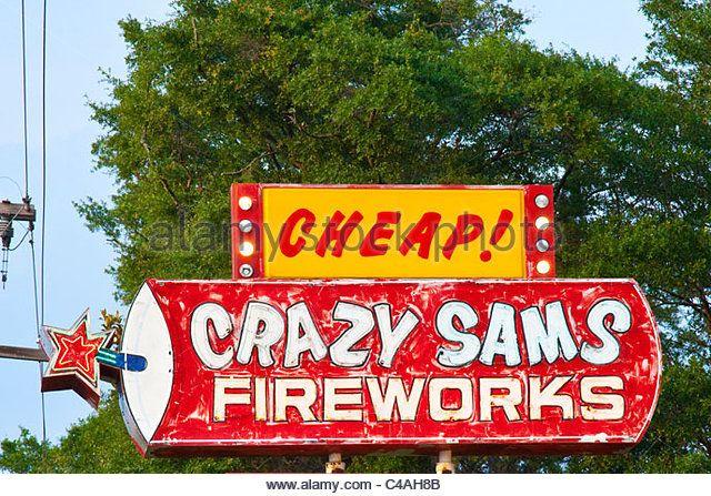 Firworks shop, Myrtle Beach, South Carolina - Stock Image