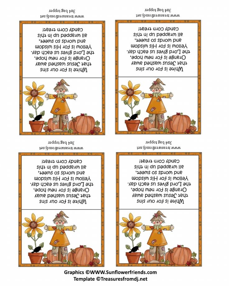 christian candy corn topper 3 inch wide scribd - Christian Halloween Stories