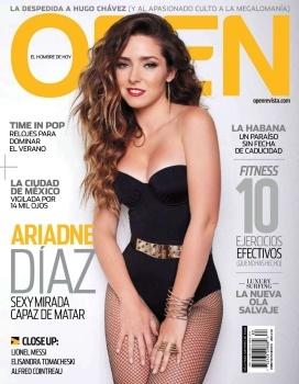 Ariadne Diaz Portada Revista Open #Open
