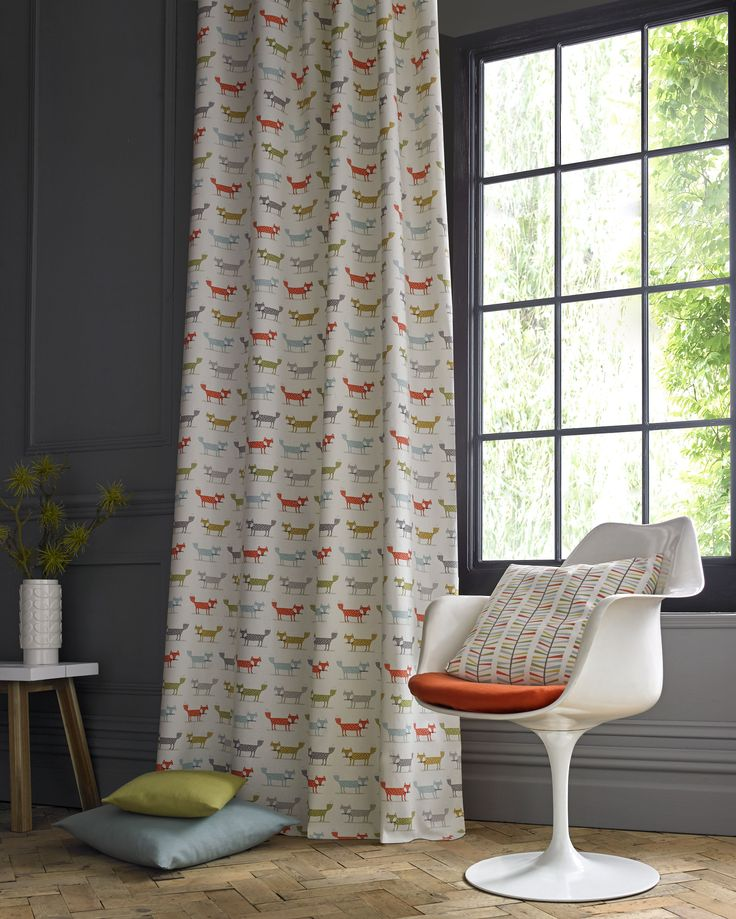 Foxy Curtain and Malmo Cushion