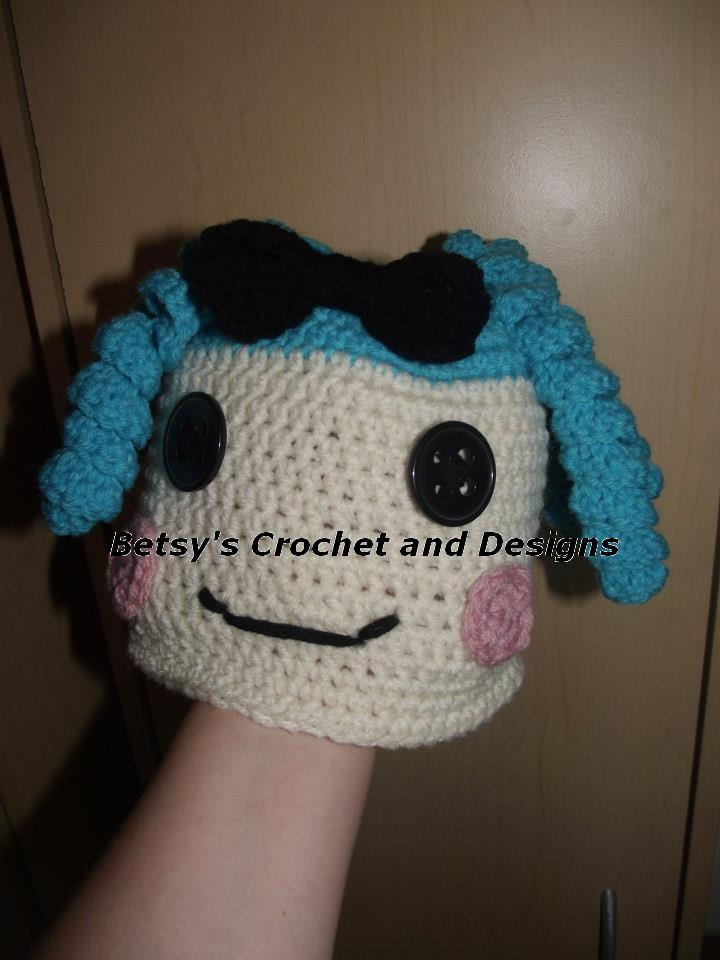 $22   LaLa Loopsy Hat  Various colors ----- blue, pink or purple curls are available.  Look for me on facebook.... Betsys Crochet and Designs
