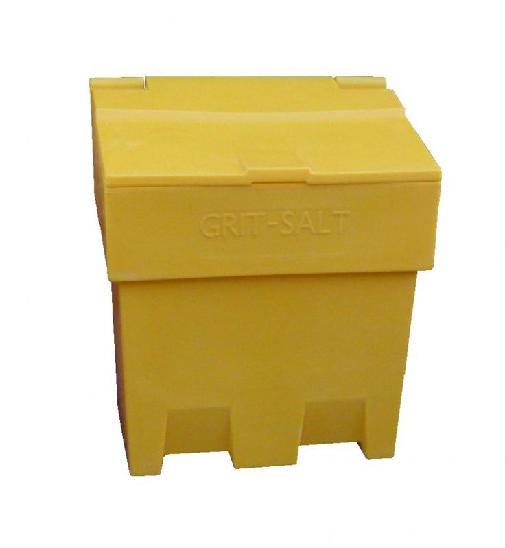 Our Slimline 7 Cu Ft 200 Litre Grit Salt Storage Bin Is Manufactured From  Weathertight Durable UV Resistant Polyethylene In High Visibility Yellow  For ...