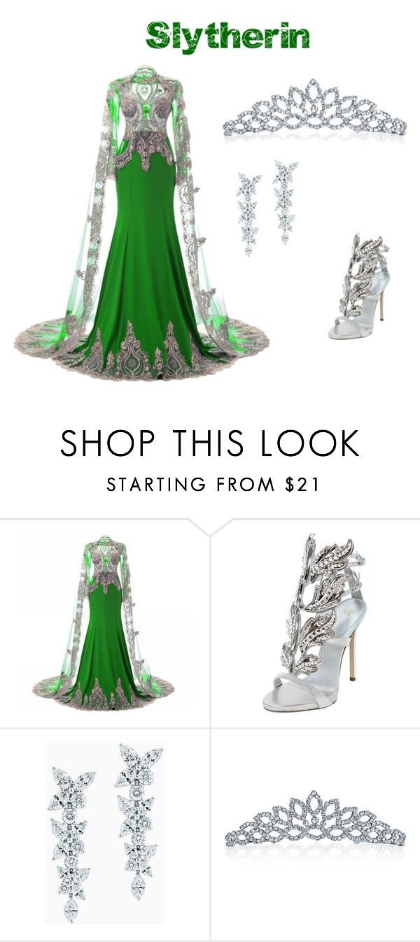 """""""Slytherin Yule Ball"""" by oliviawrisinger on Polyvore featuring Giuseppe Zanotti, Tiffany & Co. and Bling Jewelry"""