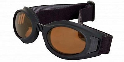 Maxx Sunglasses Rider Goggles Black Frame HD Copper Lenses