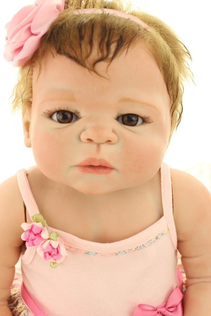 58CM Full Silicone Reborn Baby Dolls Victoria Handmade Full Body Silicone Reborn Dolls Real Hair Rooted Girls Bebes De Silicona