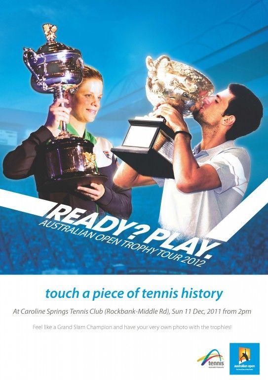 Australian Open Trophies in Town – News - Green Gully Tennis Club