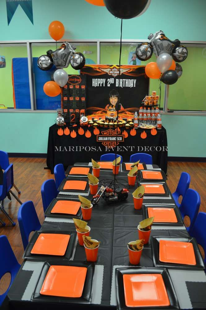 Harley Davidson Motorcycle Party  Birthday Party Ideas | Photo 1 of 28