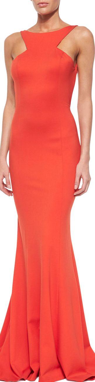 Jovani Sleeveless Ruffle-Back Mermaid Dress