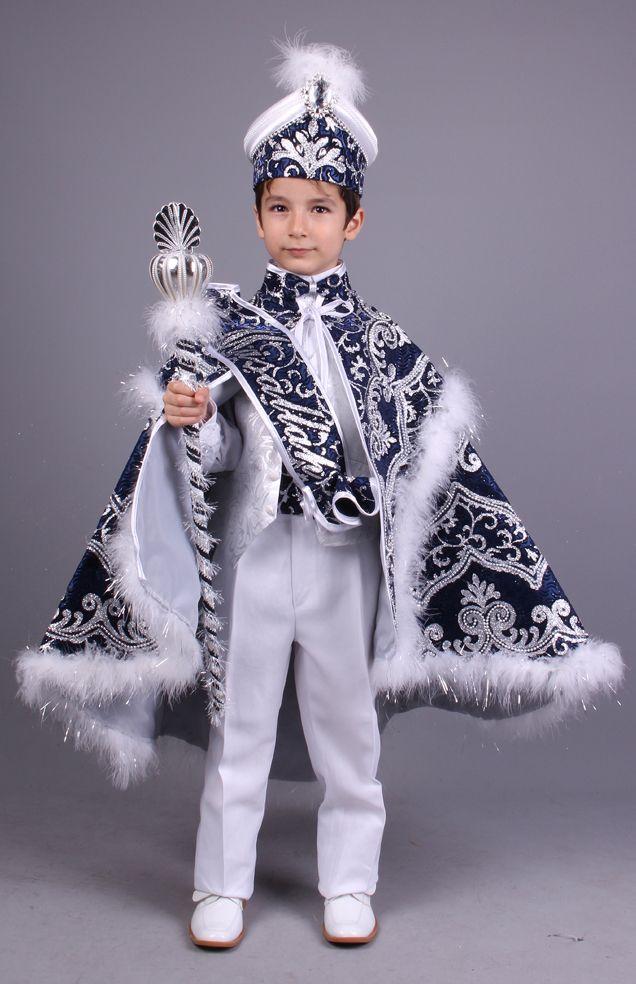 Cesur Beyaz Lacivert Pelerinli Sünnet Kıyafeti Whatsapp 0507 896 0202  0(212) 909 32 31