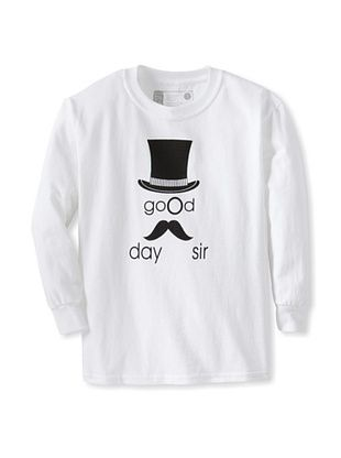 71% OFF Little Dilascia Kid's Good Day Sir Long Sleeve Tee (White)
