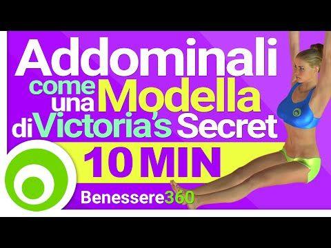 Addominali come una Modella di Victoria's Secret - Workout di 10 Minuti per una Pancia Piatta - YouTube