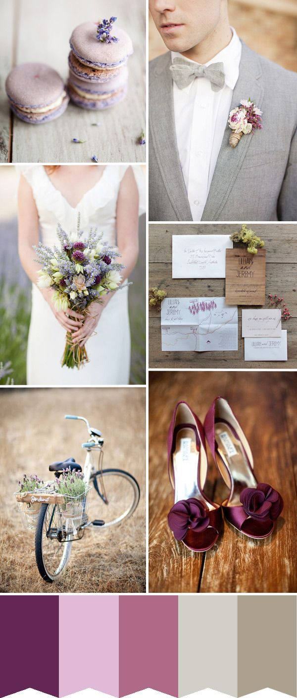 Lavender & Plum with a Touch of Grey - Wedding Colour Inspiration - One Fab Day