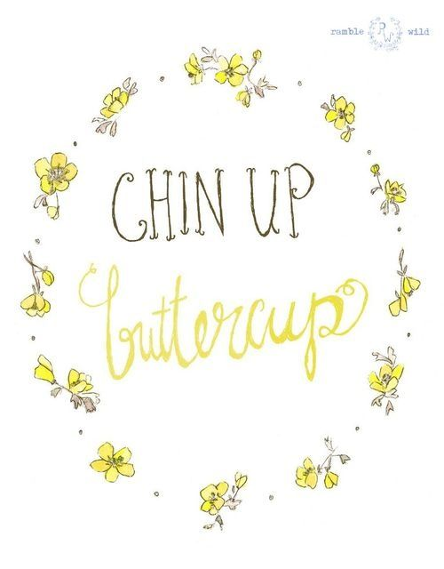 Chin Up Buttercup  Olive You.: My favorite quote(s).