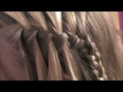 "Waterfall Braid Tutorial. These girls are so funny. They do the vid, and do a pretty good job of showing you how to do it and then they have their ""Blooper"" reel! Nice to be able to laugh at yourself, you know?"