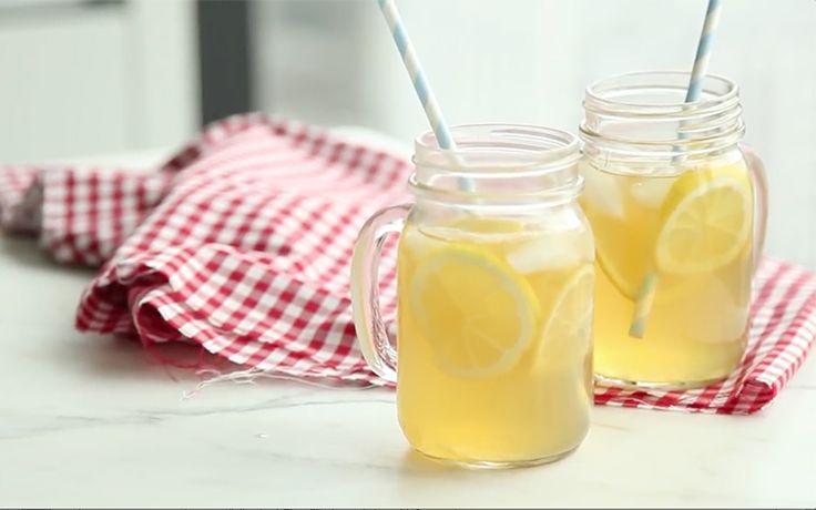 Limonade à la vodka infusée de thé