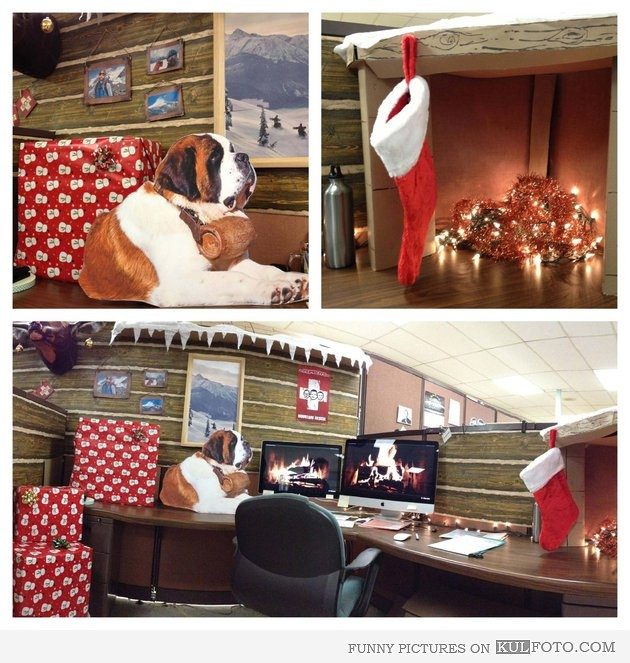 Christmas Cubicle Decorations. #decoratedcubicles