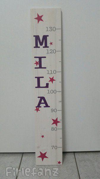 """Kinderzimmerdekoration - Messlatte """"Sterne"""" - ein Designerstück von Firlefanz-Unna bei DaWanda"""