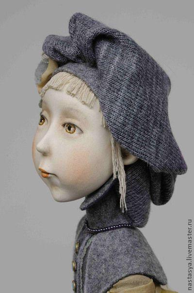 """Авторская кукла """"Немного слов о любви"""" - серый,жемчужный,любовь,подарок"""