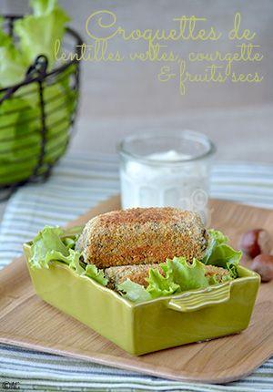 Croquettes de lentilles vertes à la courgette & fruits secs - Alter Gusto
