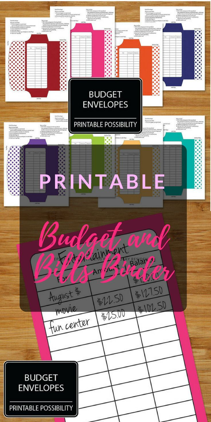 money budget and bills planner and budget envelopes combo set