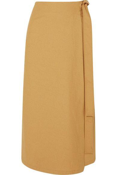 Albus Lumen | Lou Lou linen midi skirt | NET-A-PORTER.COM