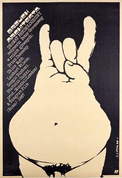 Erol Jakub – Poster for Peter Greenaway's The Belly of an Architect