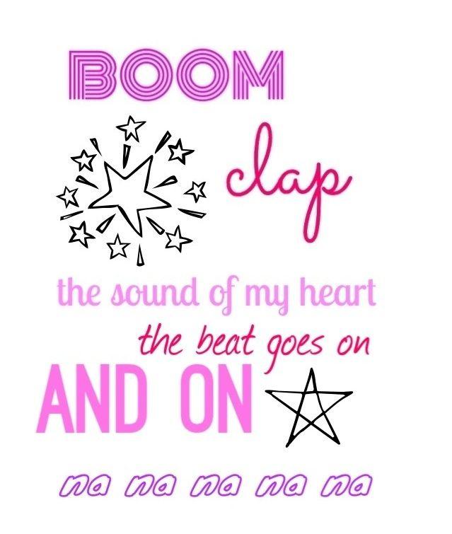 Boom Clap by Charli XCX lyrics. TFIOS soundtrack.