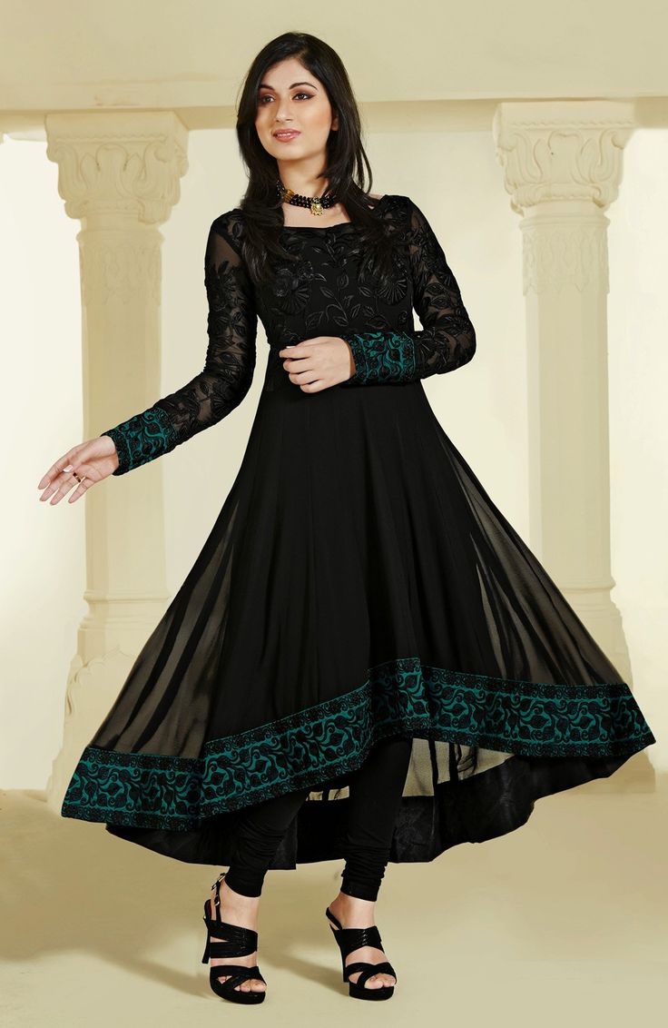Anarkali dress black